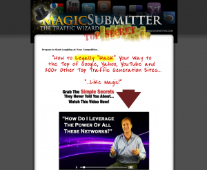 MagicSubmitter.com Press Release Submission software home page full size image