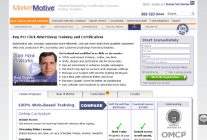 MarketMotive.com PPC Training Course overview page full size image