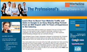 MarketingIgnite.com SEO Training Course overview page full size image