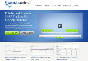 MicrositeMasters.com SEO Keyword Rank Tracking Software home page full size image