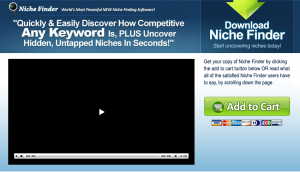 Brad Callen's Niche Finder SEO Keyword Research Software sales page full size image