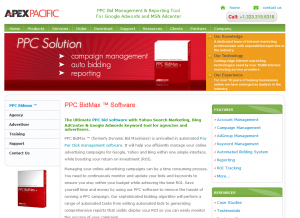 PPCBidMax.com PPC Management software home page full size image