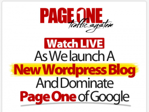 PageOneTrafficSystem.com SEO training program home page full size image