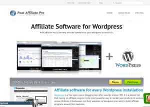 Post Affiliate Pro WordPress Plugin page full size image