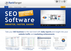 RankRanger.com SEO Keyword Rank Tracking Software home page full size image
