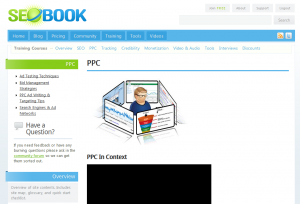 SEOBook.com PPC/SEM Training page full size image