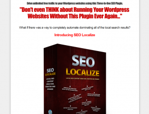 SEOLocalize.com Wordpress SEO Plugin home page full size image