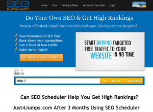 SEOScheduler.com SEO Management Software home page full size image