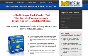 SimpleSEORankChecker.com SEO Keyword Rank Tracking Software home page full size image