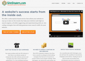 SiteStagers.com On-Site SEO service home page full size image