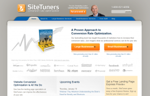 SiteTuners.com Landing Page design and optimization service home page full size image