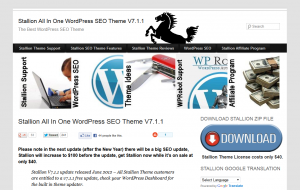 Stallion-Theme.com Wordpress SEO Theme home page full size image