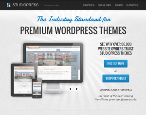StudioPress.com Wordpress SEO Themes home page full size image