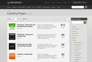 ThemeForest.net Landing Page Templates full size image