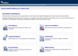 Trellian Competitive Intelligence tool features page full size image