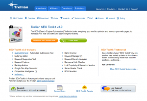 Trellian.com SEO Toolkit overview page full size image