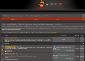 WickedFire Forums home page full size image