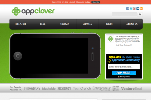 Appclover.com Mobile App Marketing services home page full size image