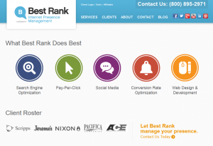 BestRank.com SEO services home page full size image