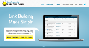 BuzzStream.com Link Building and Management Software overview page full size image