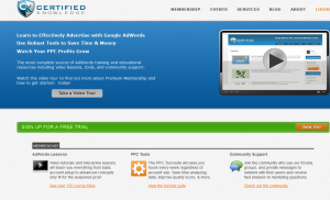 CertifiedKnowledge.org Adwords Training home page full size image