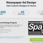 DesignCrowd NewsPaper Ad Design thumbnail image