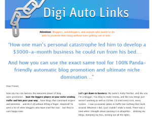 DigiAutoLinks.com Wordpress SEO Plugin home page full size image