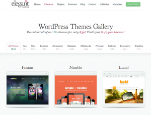 ElegantThemes.com Mobile Wordpress Themes gallery page full size image