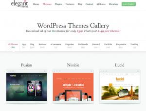 ElegantThemes.com Mobile Wordpress Themes gallery page full size image