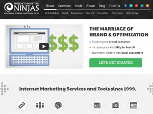 InternetMarketingNinjas.com SEO services home page full size image