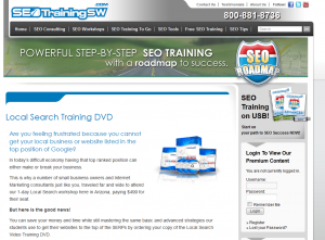 SEOTrainingSW.com Local Search Training DVD overview page full size image