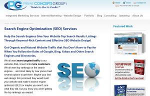 PrimeConcepts.com SEO Services overview page full size image
