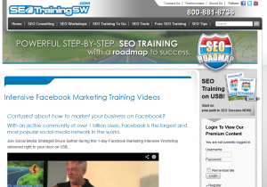 SEOTrainingSW.com Intensive Facebook Marketing Training Videos overview page full size image