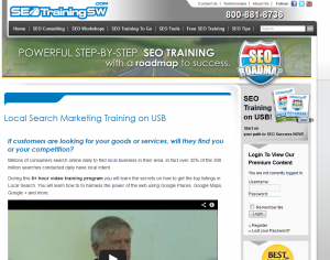 SEOTrainingSW.com Local Search Marketing Training videos overview page full size image