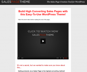 Sales Page Theme Wordpress Landing Page Theme overview page full size image