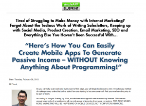 SimpleAPPBlueprint.com Mobile App Development Training and Software home page full size image
