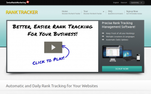 SwissMadeMarketing.com Rank Tracker SEO Rank tracking software overview page full size image