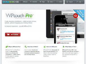 WPtouch Pro Wordpress Mobile Plugin overview page full size image