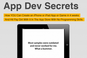 AppDevSecrets.com Iphone App Development Course sales page full size image