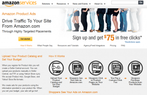 Amazon Product Ads overview page full size image