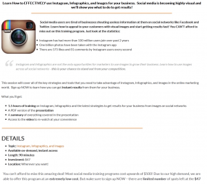 Boot Camp Digital Instagram Marketing Training (bootcampdigital.com/instagram-training) overview page full size image