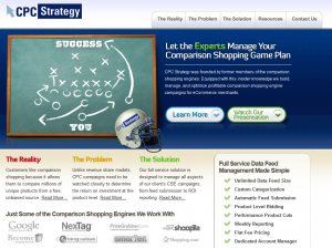 CPCStrategy.com Full Service Data Feed Management home page full size image