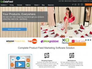 GoDataFeed (godatafeed.com) home page full size image