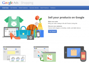 Google.com/shopping Merchant Advertising info page full size image