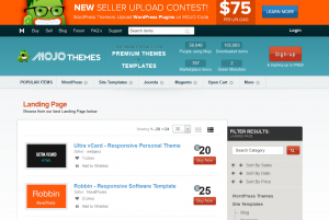 Mojo-Themes.com Landing Page Template marketplace page full size image
