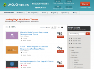 Mojo-Themes.com Wordpress Landing Page Themes marketplace full size image