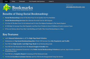 MrBookmarks.com Social Bookmarking service home page full size image