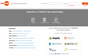 TheFind (thefind.com) Merchant Advertising page full size image