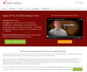 XGenSEO.com Social Media/Bookmarking Software home page full size image