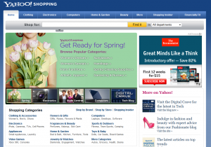 Shopping.Yahoo.com Home page full size image
